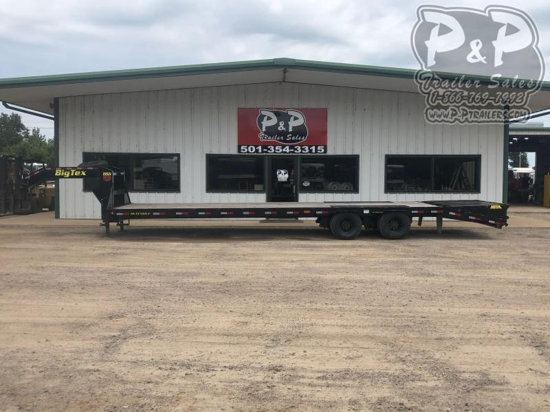 2020 Big Tex Trailers 22GN-28BK+5MR 33 ft Flatbed Trailer