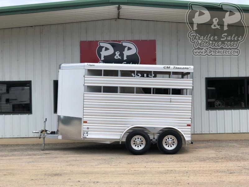 2020 CM CMH4542-1370235 Cheyenne 2 Horse Slant Load Trailer