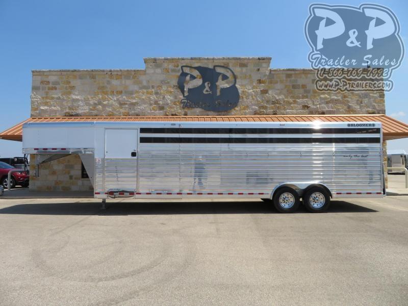 2020 Bloomer Polo 7 Horse Slant Load Trailer w/ Ramps