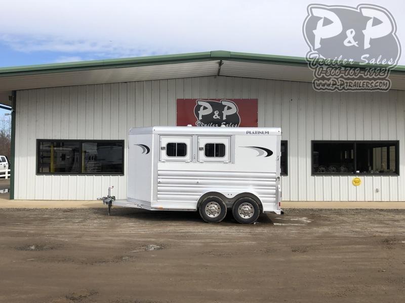2020 Platinum Coach 762BP 2 Horse Slant Load Trailer