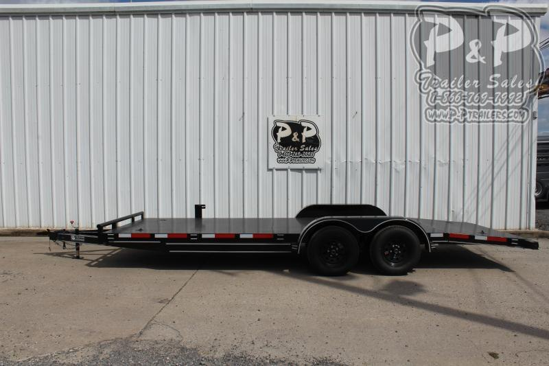"2020 P and P PPSFCH20X83GDSR *** 20' x 83"" *** Car Hauler Flatbed Trailer"