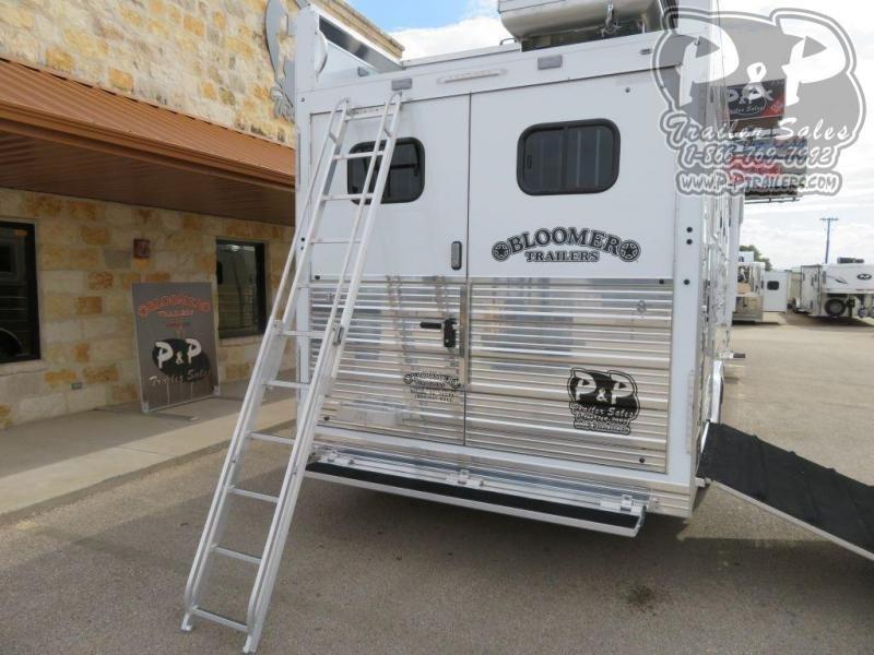 2020 Bloomer 8413PCOL 4 Horse Slant Load Trailer 13.166 FT LQ With Slides w/ Ramps