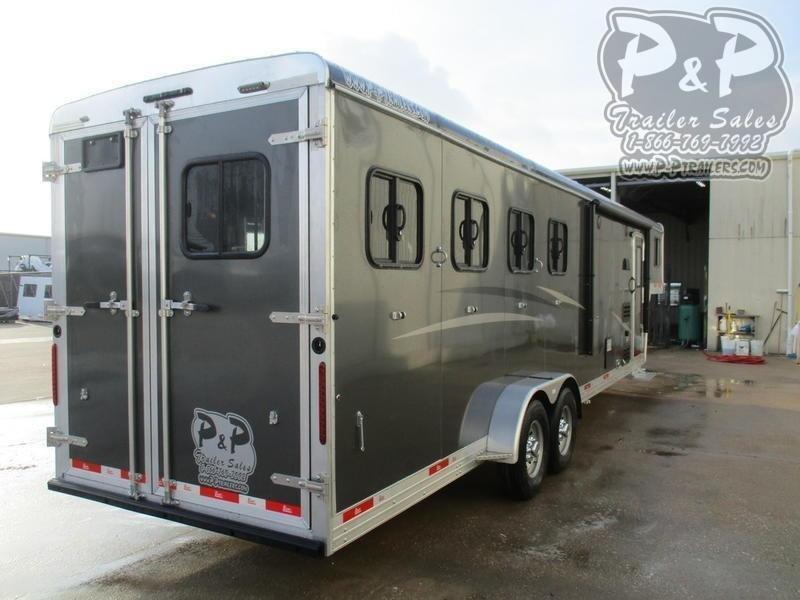 2020 Bison Trailers 7408TB 4 Horse Slant Load Trailer 8 FT LQ