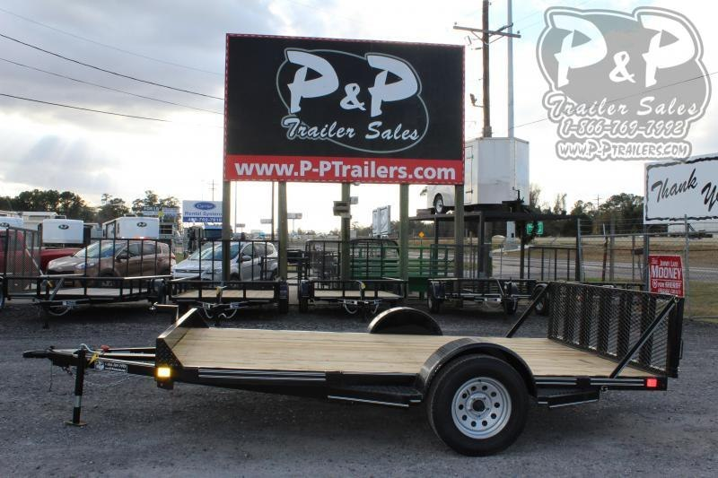 2020 P and P PPEQ12x83LDTG 12 ft Utility Trailer