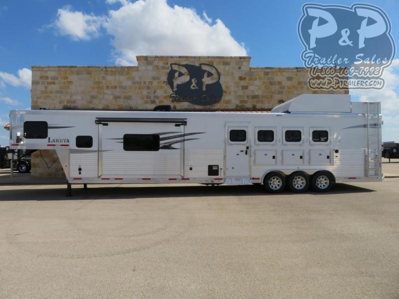 2020 Lakota Charger C8417SRBRSL 4 Horse Slant Load Trailer 17 FT LQ With Slides w/ Ramps
