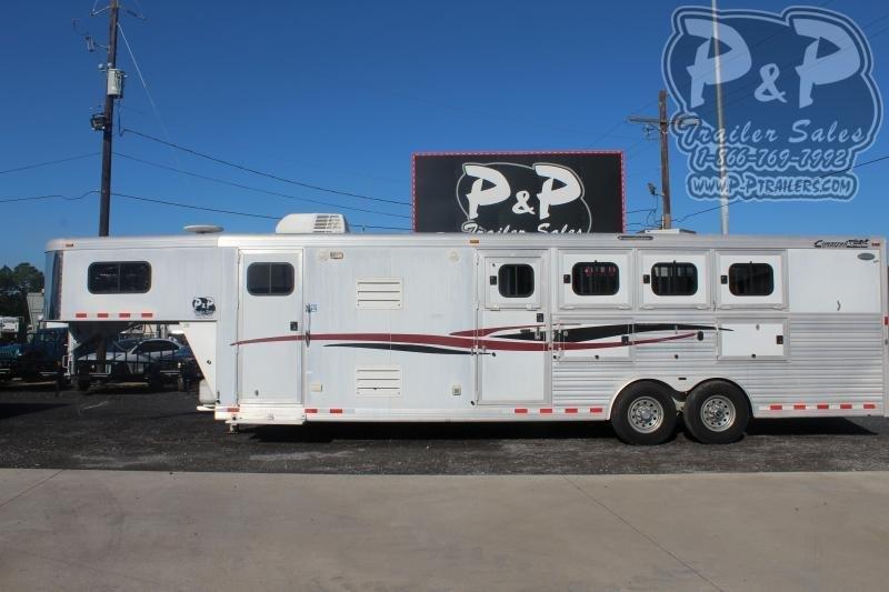 2009 Cimarron Trailers 8412OL 4 Horse Slant Load Trailer 12 FT LQ