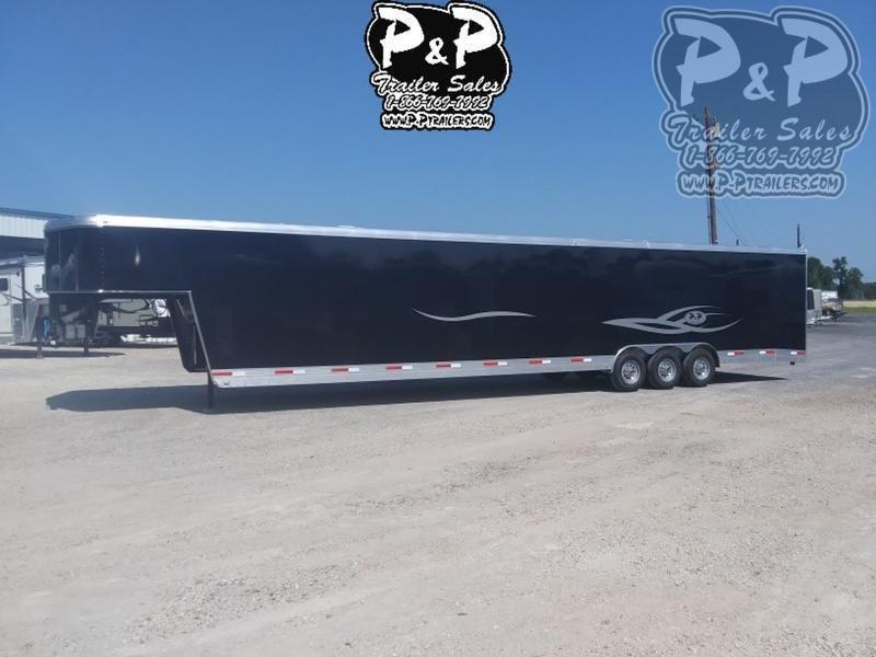 2019 P and P 40 Car Hauler Standard 40 ft Enclosed Cargo Trailer