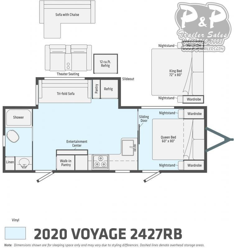 2020 Winnebago Voyage 2427RB 27' ft Travel Trailer RV