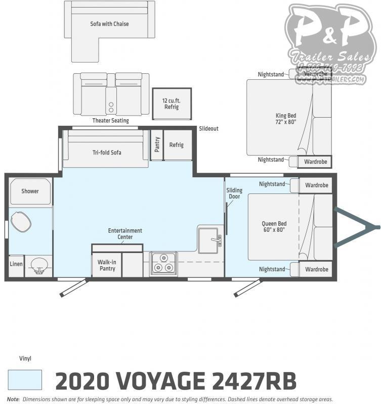 2020 Winnebago Voyage 2427RB 27' ft Travel Trailer RV