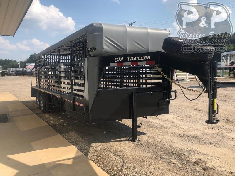 2020 CM CMS9440-24 24 ft Livestock Trailer