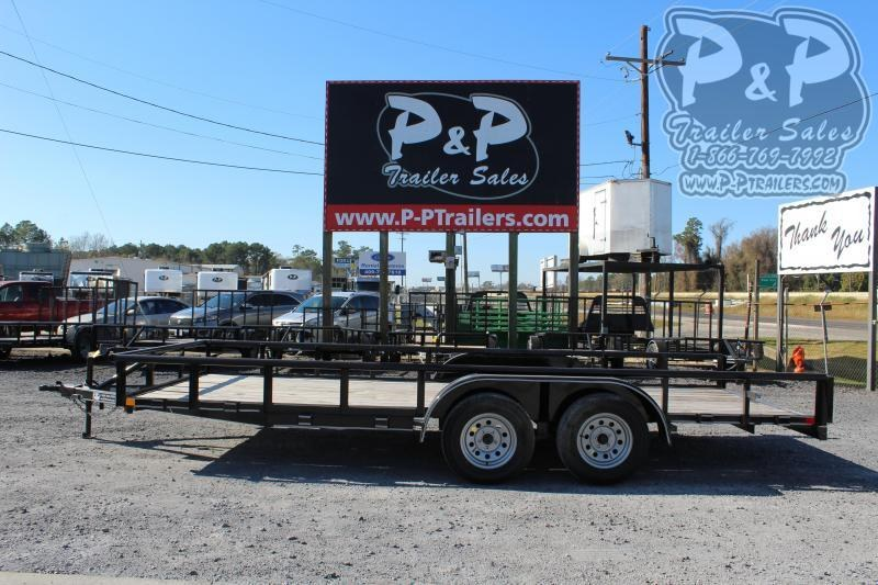 2020 P and P PPTA18X83GDSRPT 18 ft Utility Trailer