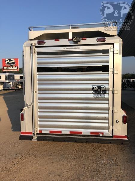 2020 Platinum Coach 74STGN 4 Horse Slant Load Trailer