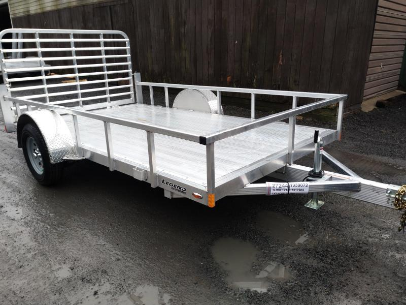 Legend Open Aluminum Motorcycle Trailer 7 x 12