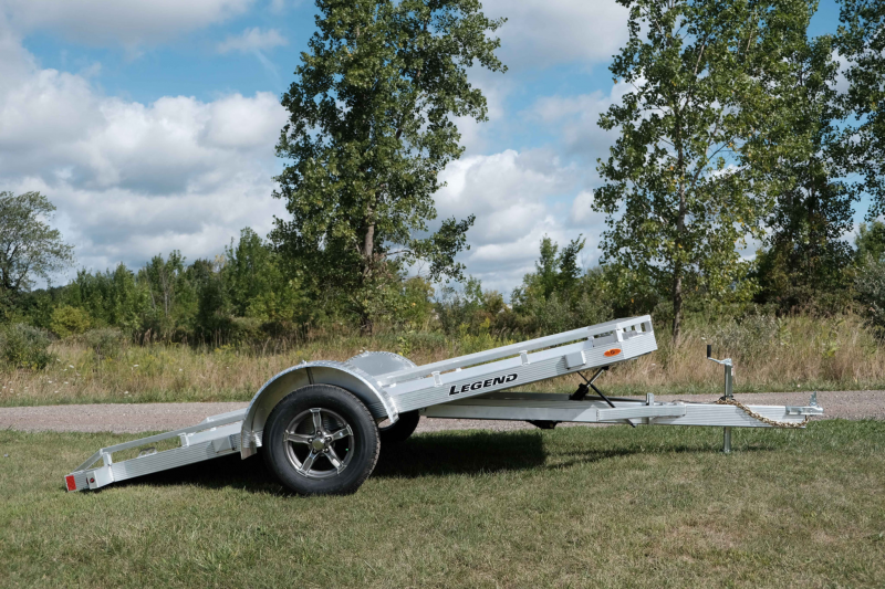 Legend Open Aluminum Tilt Motorcycle Trailer 7 x 12