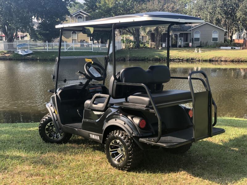 2020 Yamaha Drive 2 Adventurer Sport Gas Golf Cart 4 Passenger Black