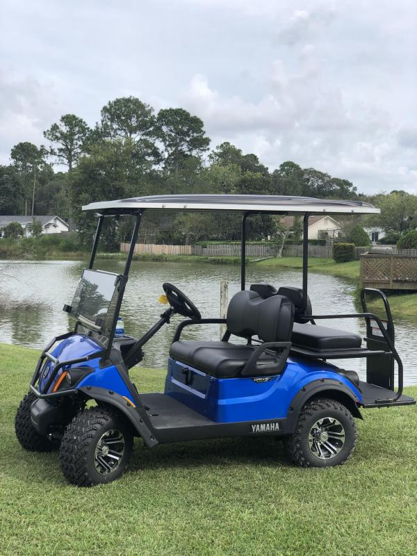 2020 Yamaha Drive 2 Adventurer Sport Gas Golf Cart 4 Passenger Blue
