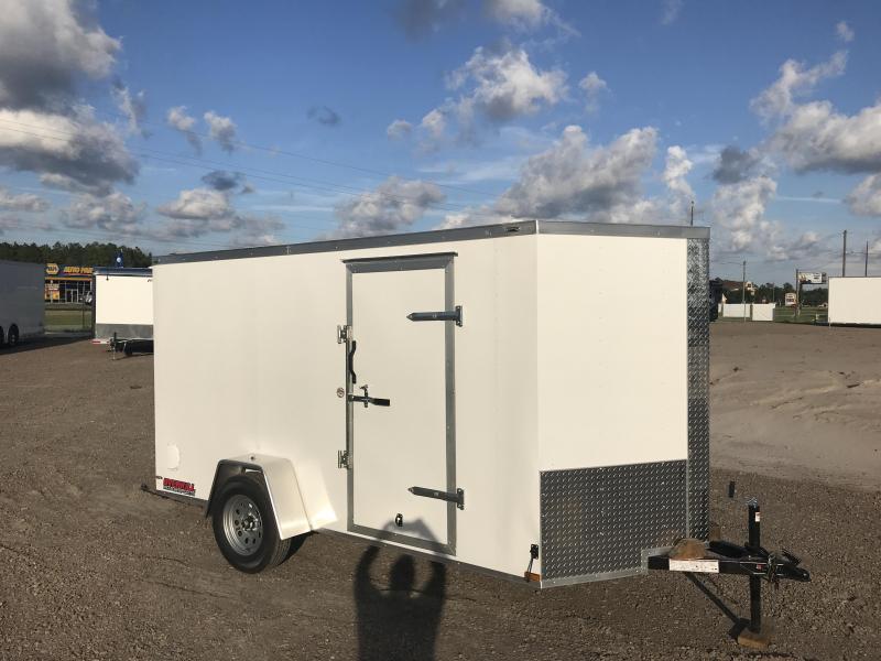 2019 Lark 6x12 V-Nose Single Axle Enclosed Cargo Trailer