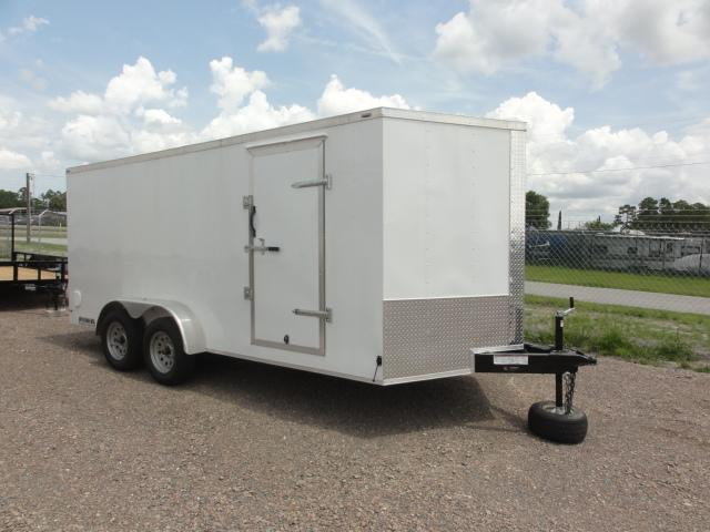 2019 Lark 7X16 V-Nose Tandem Axle Enclosed Cargo Trailer