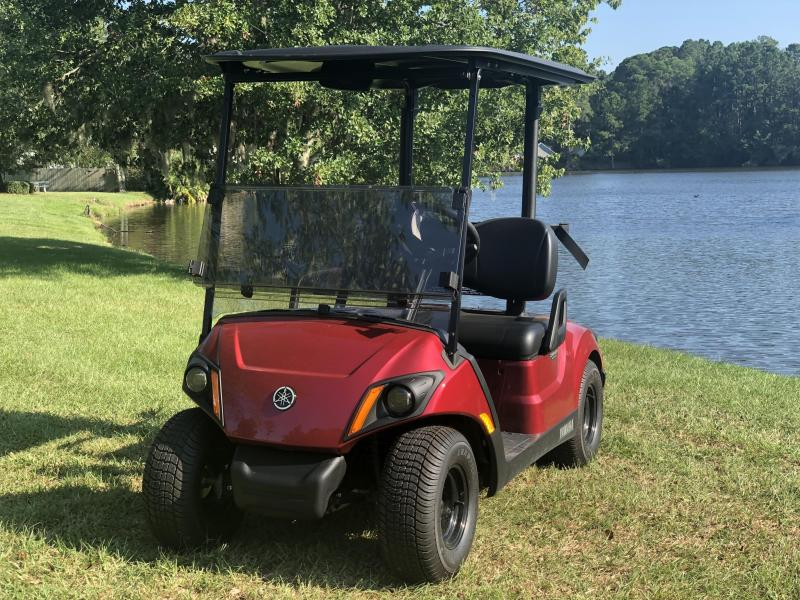 2020 Yamaha Drive2 PTV Quietech Gas Golf Cart EFI 2 Passenger Red