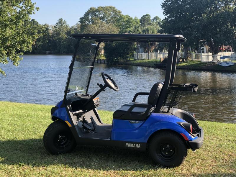 2020 Yamaha Drive2 PTV Quietech Gas Golf Cart EFI 2 Passenger Blue