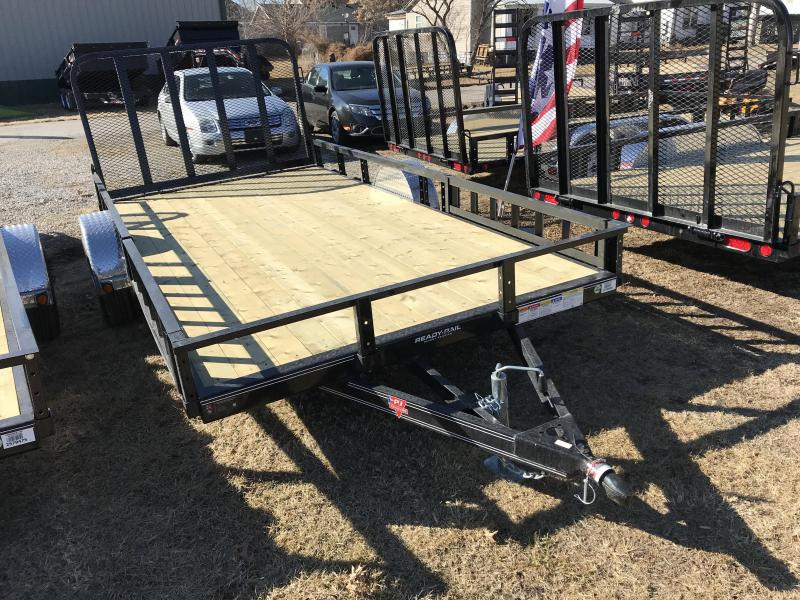 2019 PJ Trailers 83x14 Singe Axle Utility W/ SIDE RAMPS (U8)