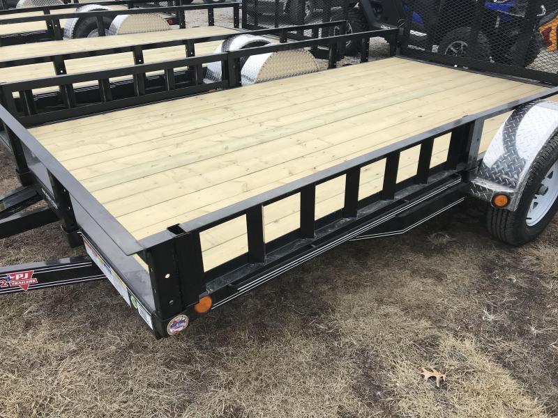 2019 PJ Trailers 77x12 Utility Trailer W/ ATV Ramps (U7)