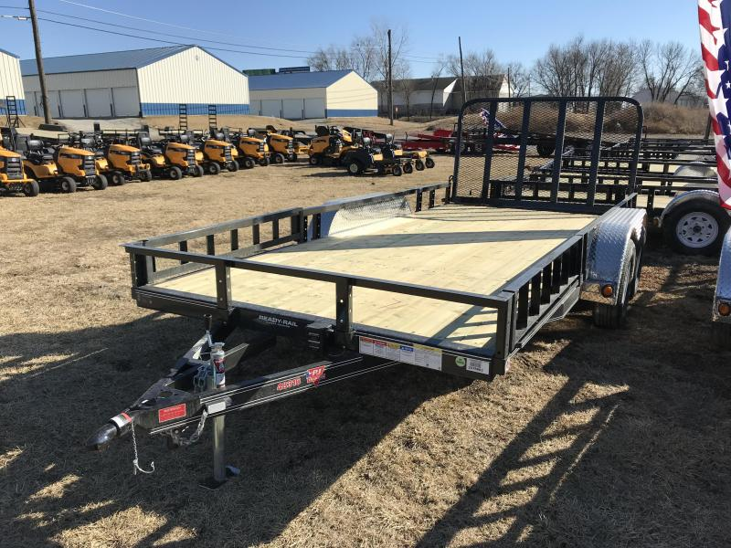 2018 PJ Trailers 83x16 Tandem Axle Channel Utility (UL)