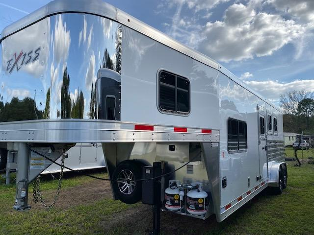 2020 Exiss Escape 3H 8.5' LQ Horse Trailer