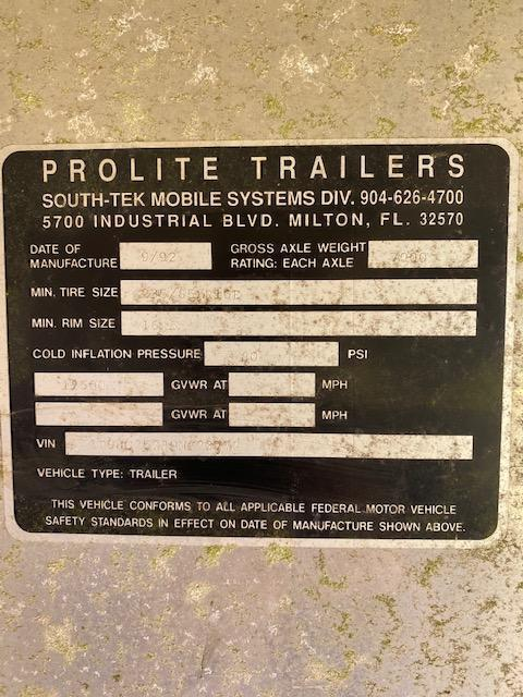 1992 Other Pro Lite 2+1 Horse Trailer