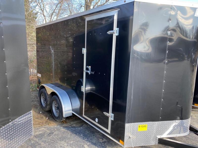 2019 Haulmark Passport 7X14 Enclosed Cargo Trailer - w/ RAMP - BLACK