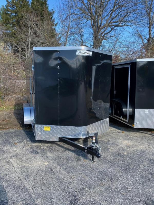 2019 Haulmark Passport 7X14 Enclosed Cargo Trailer - w/ RAMP - BLACK