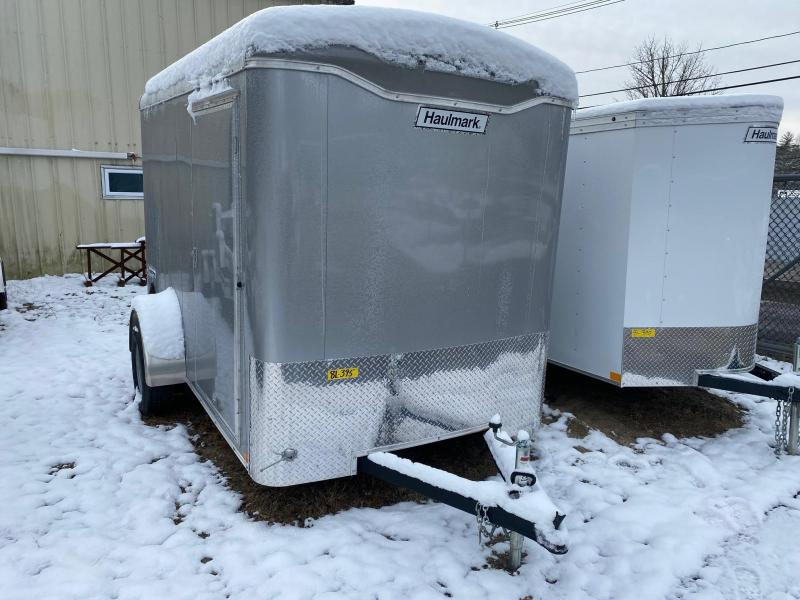 2020 Haulmark Transport 6X10 Enclosed Flat Front Cargo Trailer w/ RAMP - Silver