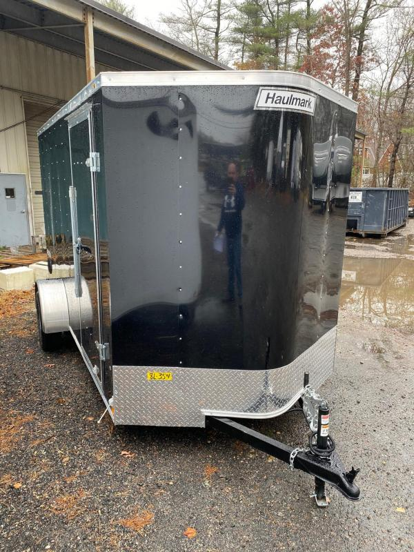 2020 Haulmark Passport 6X12 Enclosed Trailer w/ RAMP - BLACK