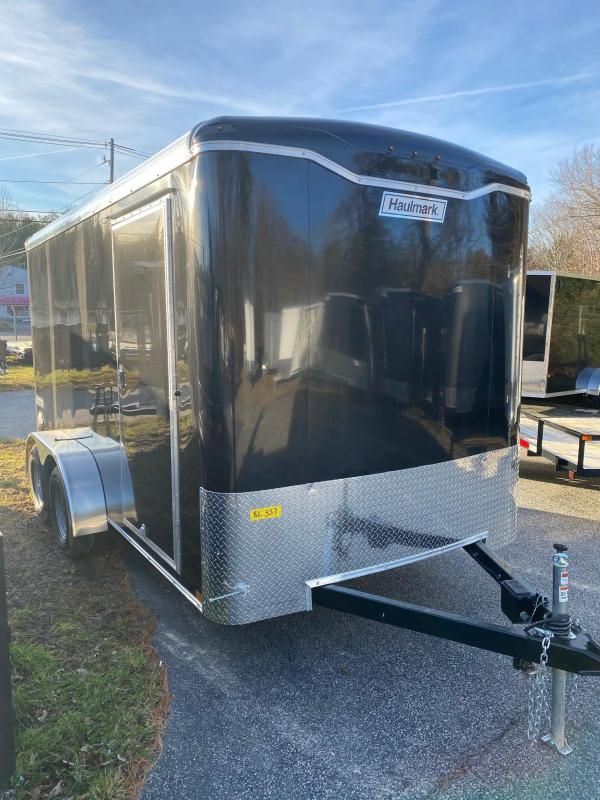 2019 Haulmark Transport 7x14 Enclosed Cargo Trailer w/ RAMP - BLACK