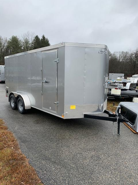 2020 Haulmark Passport 7x16 Enclosed Cargo Trailer w/ Barn Doors - Silver