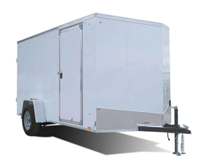 2021 Look Trailers 6X12 Enclosed Cargo Trailer w/ BARN DOORS - WHITE