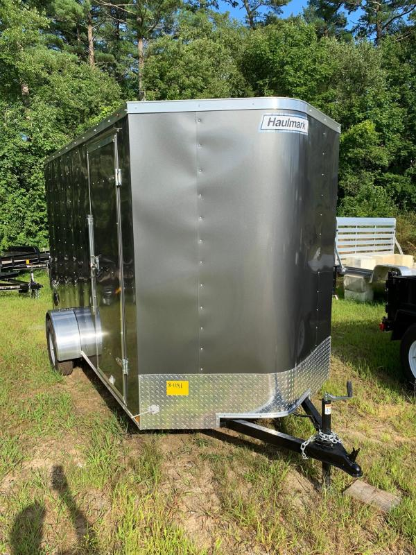 2019 Haulmark Passport 6X12 Enclosed Trailer w/ RAMP - Charcoal