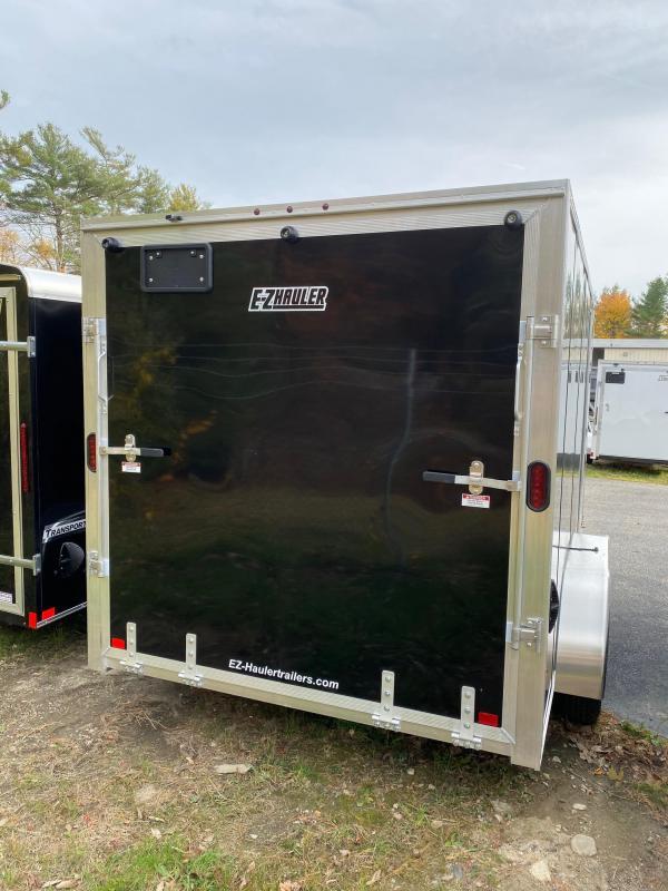 2020 EZ Hauler 7X14 Enclosed Trailer w/ RAMP DOORS - BLACK