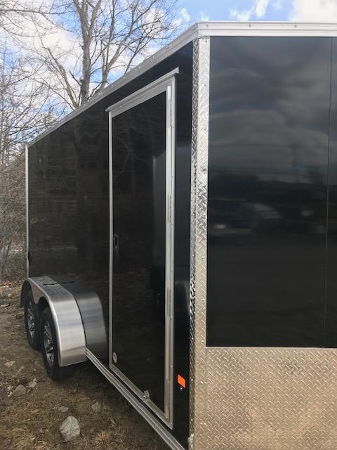 2020 EZ Hauler 7X14 Enclosed Trailer w/ RAMP DOOR - BLACK