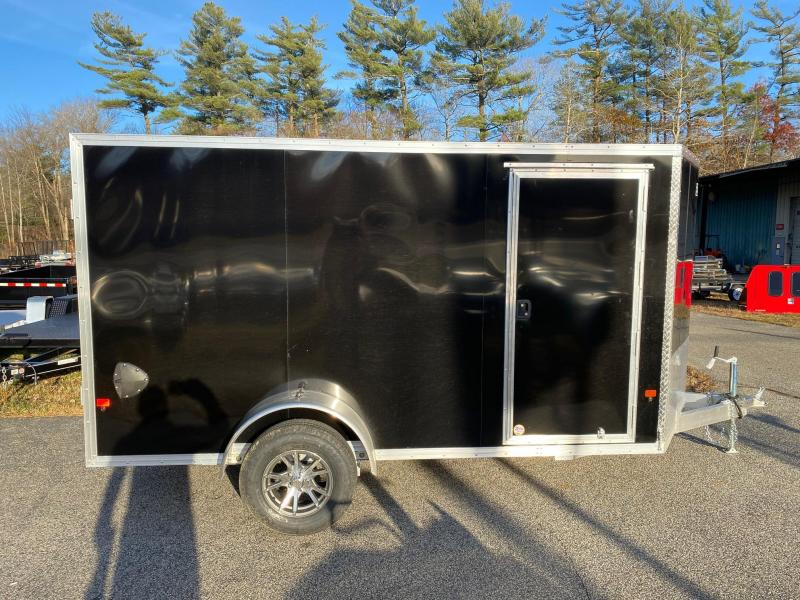 2020 EZ HAULER 6X12 Enclosed Cargo Trailer w/ RAMP - BLACK