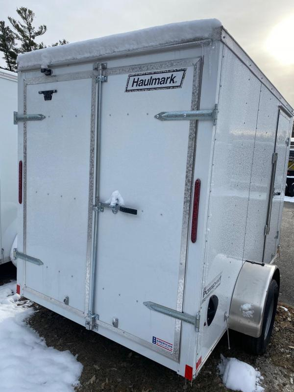 2020 Haulmark Passport 6X10 Enclosed Trailer w/ BARN DOORS - WHITE