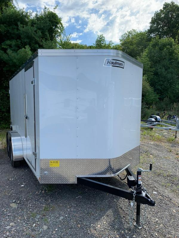 2019 Haulmark Passport 7X14 Enclosed Cargo Trailer - w/ BARN DOORS - WHITE