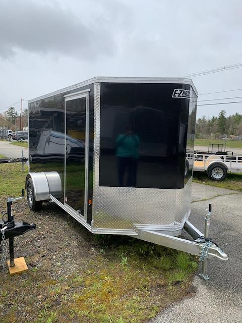 2020 EZ HAULER 6X10 Enclosed Cargo Trailer - BLACK - Ramp Door
