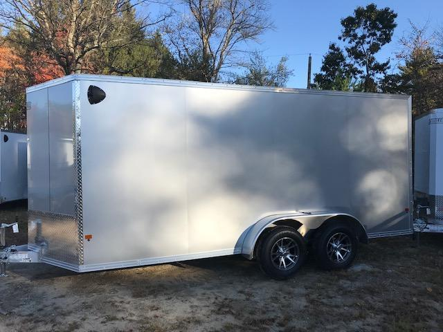 2020 EZ Hauler 7X16 Enclosed Trailer w/ RAMP DOORS - SILVER