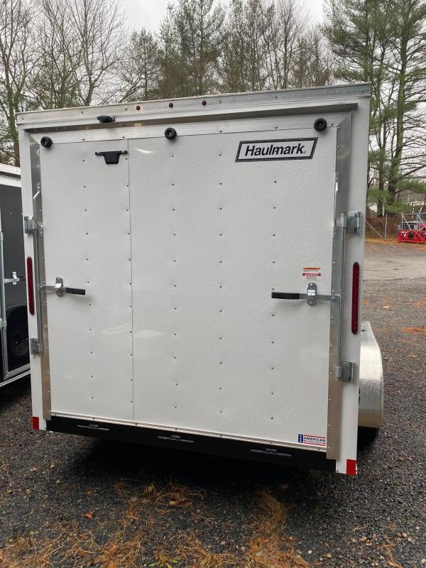 2019 Haulmark Passport 7X14 Enclosed Cargo Trailer - w/ RAMP - WHITE