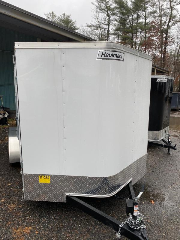 2019 Haulmark Passport 7X14 Enclosed Cargo Trailer - w/ RAMP - WHITE