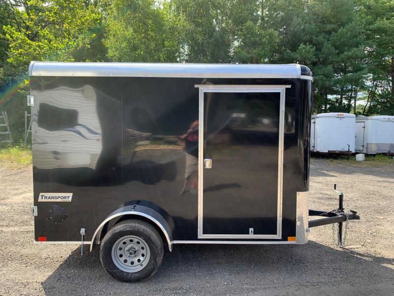 2019 Haulmark Transport 6X10 Enclosed Cargo Trailer w/ BARN DOOR - BLACK