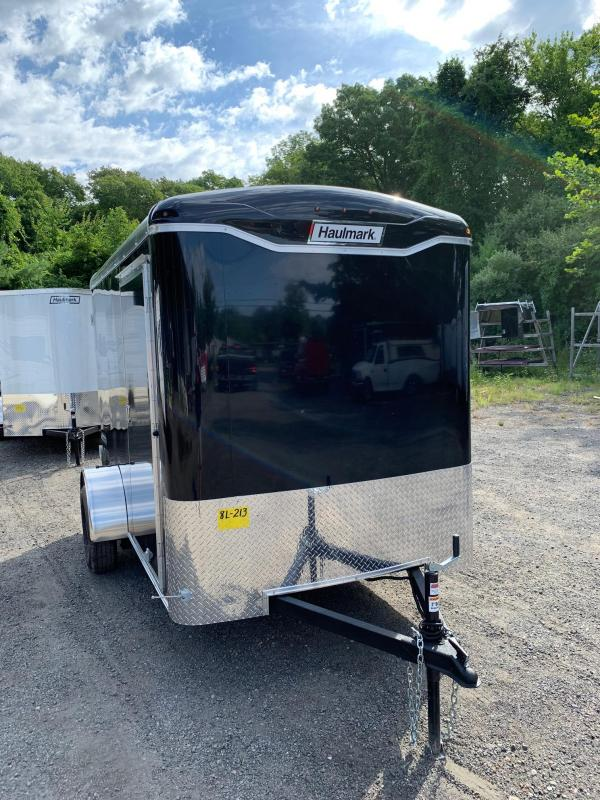 2019 Haulmark Transport 6X10 Enclosed Cargo Trailer w/ BARN DOOR - BLACK