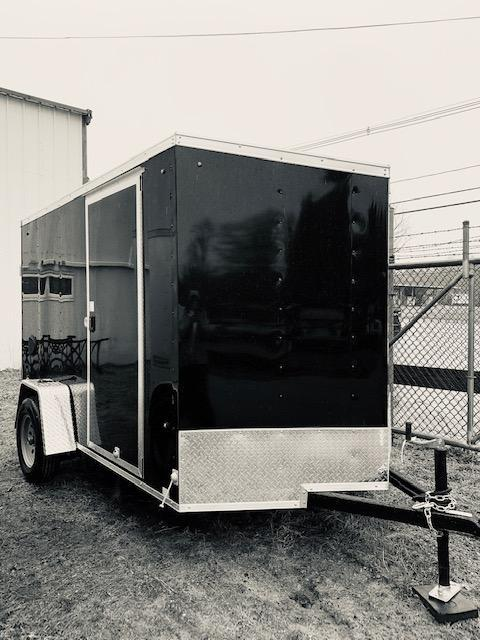 2021 Look Trailers 6X10 Enclosed Cargo Trailer w/ RAMP - Black
