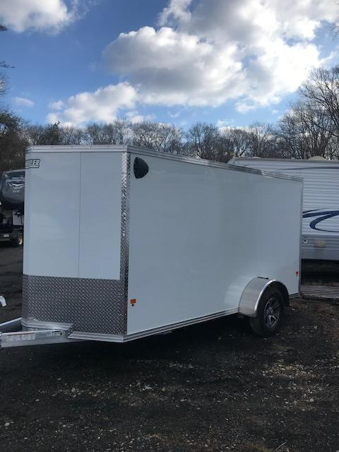 2020 EZ HAULER 6X12 Enclosed Cargo Trailer w/ RAMP - WHITE